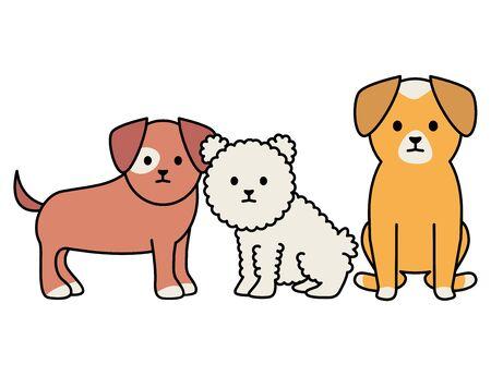 little dogs adorables mascots characters Foto de archivo - 133487975