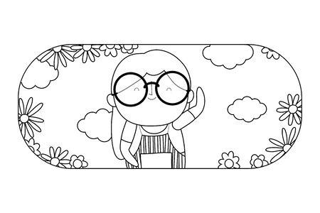 Grandmother cartoon vector design vector illustration Stock Illustratie