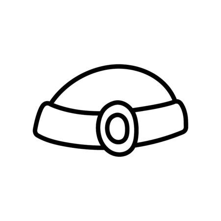 hat gem jewelry antique icon vector illustration thick line