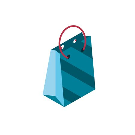 paper bag online shopping isometric icon vector illustration  イラスト・ベクター素材