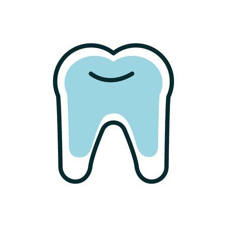 dental medical dentistry icon line fill vector illustration