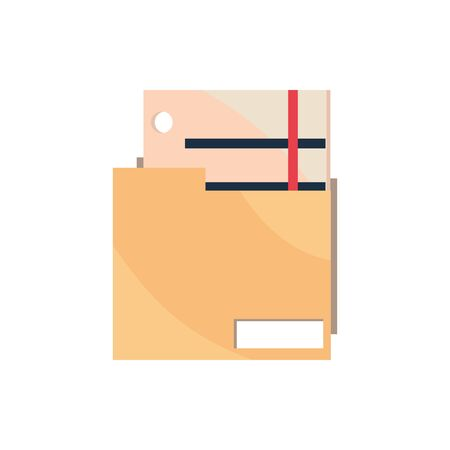 folder file papers office work business equipment icon vector illustration 일러스트