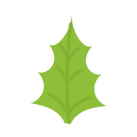 green leaf foliage botanical icon vector illustration Vectores