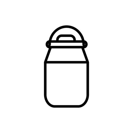 milk container rural agriculture thick line vector illustration 일러스트