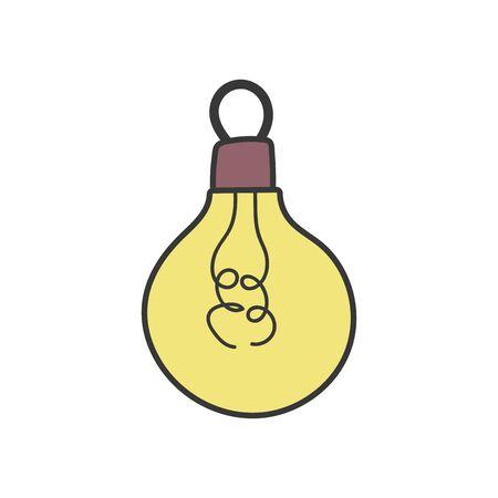 light bulb energy power icon vector illustration