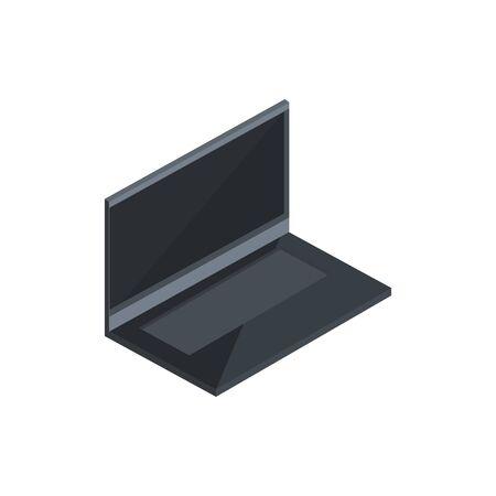 black laptop technology hardware device computer isometric