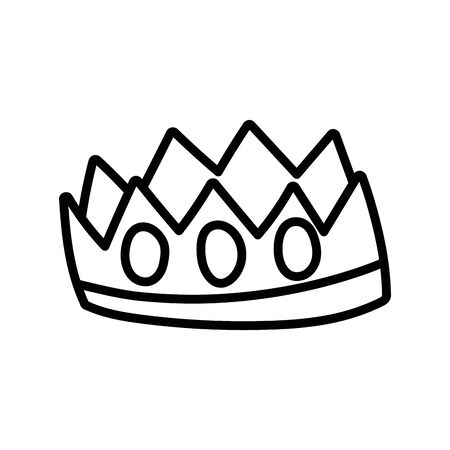 crown royalty gems luxury monarch icon thick line Illustration