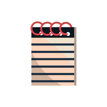 notepad with spiral office work business equipment icon Illustration