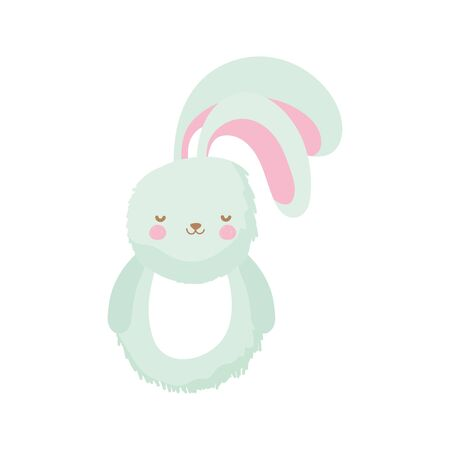 fluffy rabbit adorable toy icon