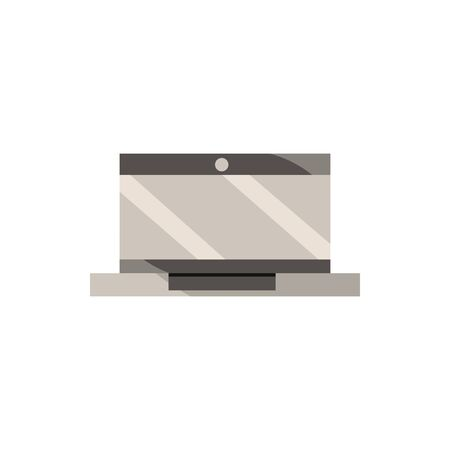laptop computer office work business equipment icon