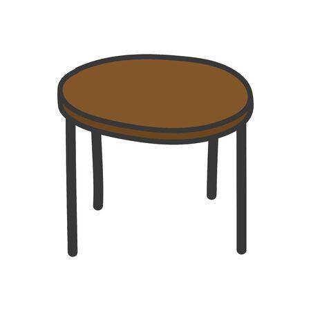 icône de mobilier de table ronde marron