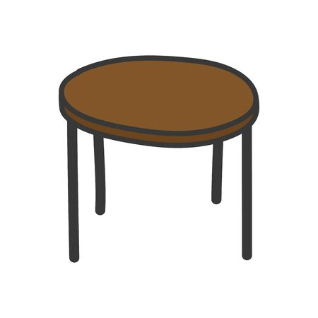 Symbol für braune runde Tischmöbel