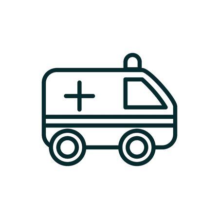 ambulance emergency urgency medical icon line