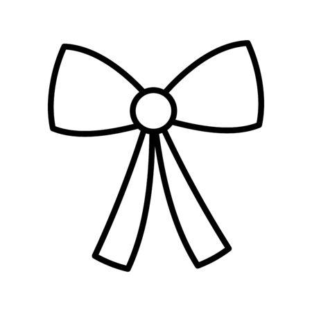 bow decoration ribbon icon thick line Foto de archivo - 133700241