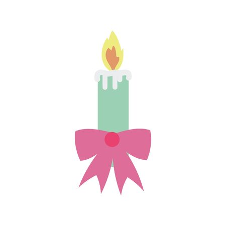 merry christmas celebration candle flame gift bow