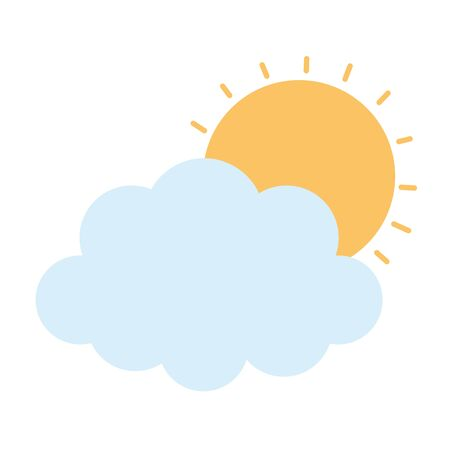 weather summer sun cloud icon