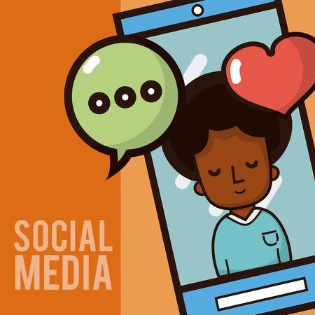 Social media smartphone chat