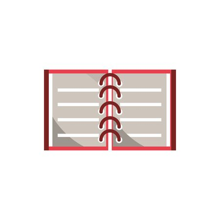 open notebook office work business equipment icon