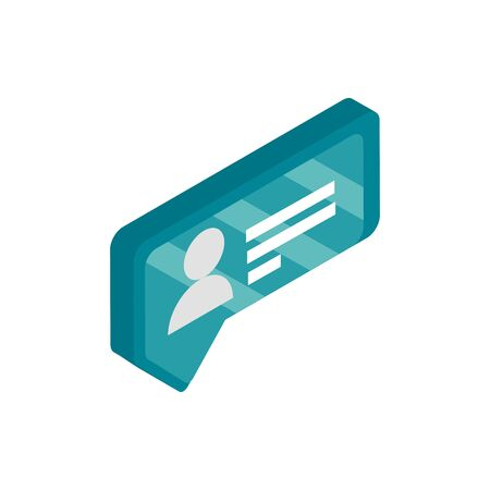 chat bubble social media isometric icon