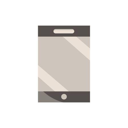 smartphone office work business equipment icon Ilustracja