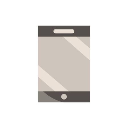 smartphone office work business equipment icon Illustration