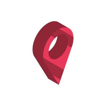 pointer navigation online shopping isometric icon Illusztráció