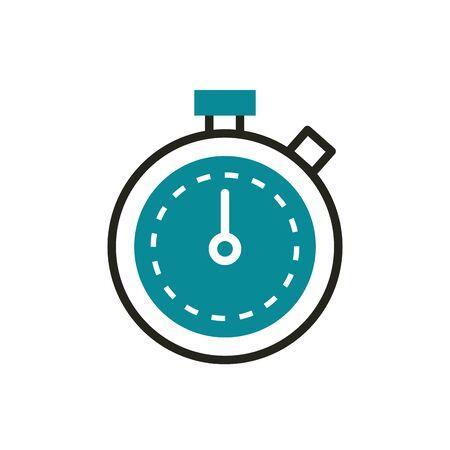 speed optimization web development icon vector illustration line and fill