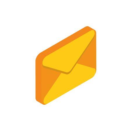 email message social media isometric icon vector illustration Illusztráció