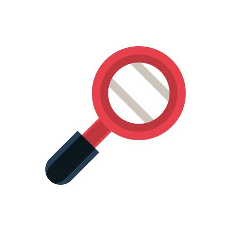 magnifier office work business equipment icon