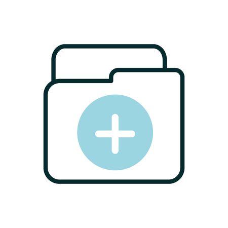 folder file equipment medical icon line fill  イラスト・ベクター素材