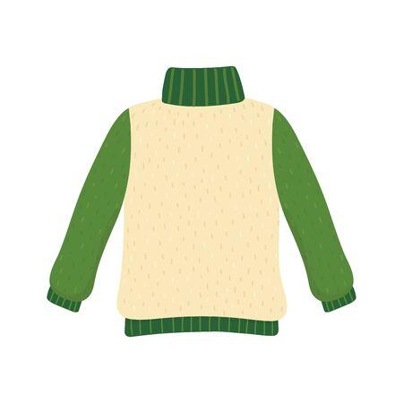christmas ugly sweater party green sleeves vector illustration Illusztráció