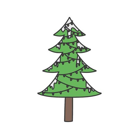 merry christmas decorative tree lights snow winter