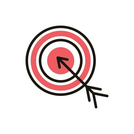 target strategy social media icon line and fill