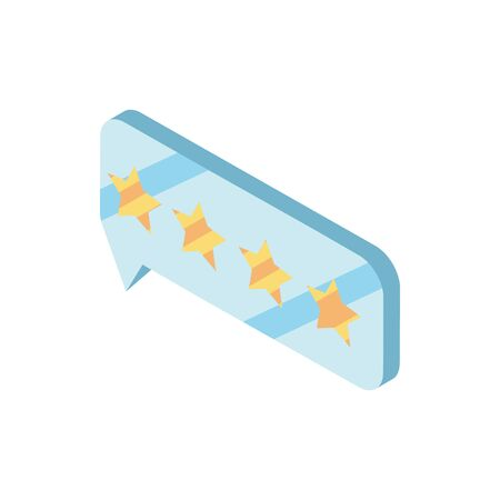 chat bubble online shopping isometric icon