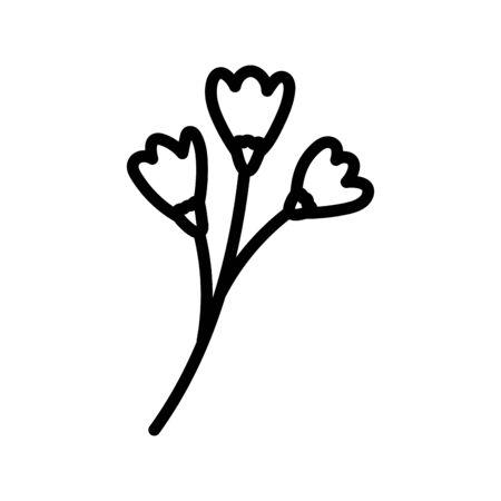 flowers stem nature decoration icon thick line
