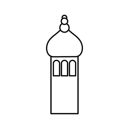 arabic castle tower classic antique icon thick line