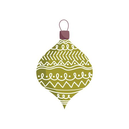 merry christmas celebration colored ball decoration