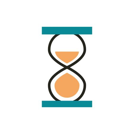 hourglass time web development icon line and fill Ilustracja