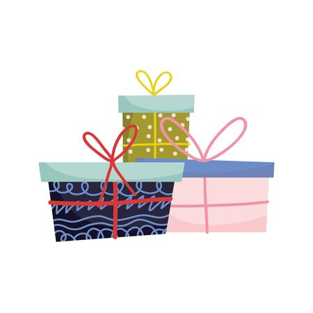 wrapped gift boxes celebration merry christmas