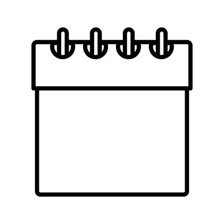 calendar date reminder month design icon thick line