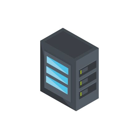 computer case technology hardware device vector illustration isometric Illustration