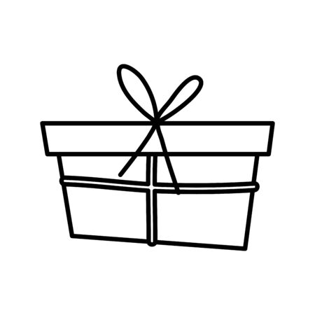 wrapped gift box decoration party icon thick line thick line Ilustracja