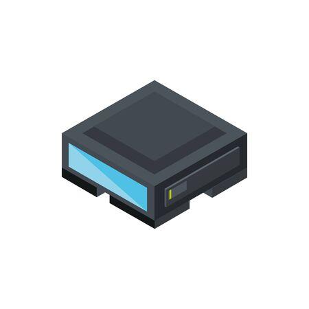 technology hardware device computer isometric