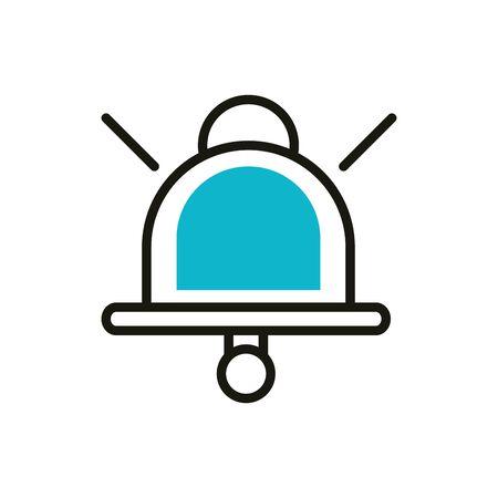 bell notification social media icon line and fill Illusztráció