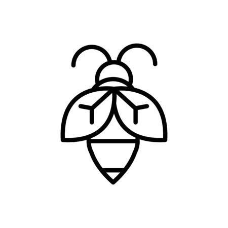 bee insect rural agriculture thick line Ilustracja