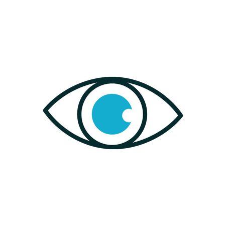 eye optical medical icon line fill Ilustracja