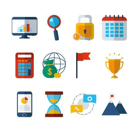 business work success finance icons set Stock Illustratie