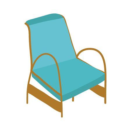 classic chair comfort furniture icon vector illustration