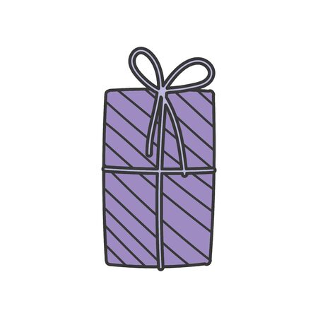 wrapped gift box decoration party icon vector illustration Foto de archivo - 133703627