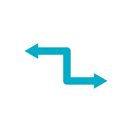 blue arrows icon design, Direction web forward direction web forward infographic and pointer theme Vector illustration